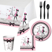 Party in Paris Tableware Party Bundle for 16