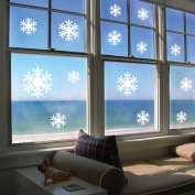 Xmas Christmas White Snow Wall Stickers Wall Decals Window Stickers