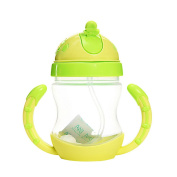 Millya Kids Water and Drinks Bottle 240ml Straw Dottle with Durable Handle