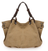 Yisidoo European Style Women's Large Canvas Tote/Shoulder Bag Cross-Body Bag Handbag Totes
