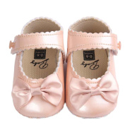 First Walking Shoes Longra® New Born Baby Girls Bowknot Decoration Anti-slip Sole Baby Sneaker Shoes (0~18 Month)