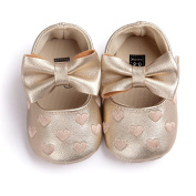 First Walking Shoes Baby Girls Longra® New Born Baby Girls Bowknot Decoration Anti-slip Sole Baby Shoes