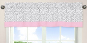 Pink and Grey Kenya Window Valance by Sweet Jojo Designs