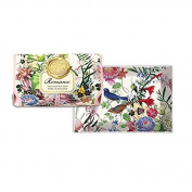 Michel Design Works Bath Soap Bar & Glass Soap Dish, Romance