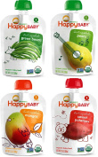 Happy Baby Organic Baby Food Stage 1 Starting Solids Variety Pack, 16100ml