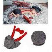 Newland Newborn Baby Aviator Handmade Crochet Knitted Photography Props Outfit