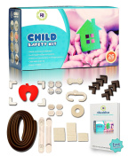 Essential Baby Proofing Kit [26in1] Perfect bundle including table bumper, corner bumpers, corner guards, child safety latches, child safety cabinet locks, door stopper, door latch and outlet covers