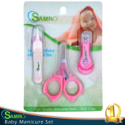 Top Rated Baby Nail Clipper Set with Scissors and Nasal Tweezer in the USA Simple Ergonomic Versatile Unisex Child Toddler Grooming & Healthcare Kit and Shower Gift