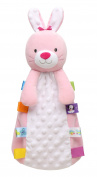 Taggies So Hoppy Bunny Snuggle Buddy Security Blanket