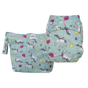 GroVia Nappy and Wetbag Purrrrfect Combo - Cloth Nappy Shell - Snap