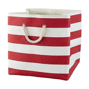 Large Storage Baskets and Bins - Store Toys, Laundry, Clothes for a Bedroom, Kids Room, Nursery, Home Office, Living or Family Room - Red
