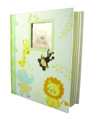 C.R. Gibson Keepsake Memory Book of Baby's First Year, Jungle Friends