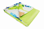 Cotton Flower Toddler Quilt (Quilt + Duvet Cover) (Zoo