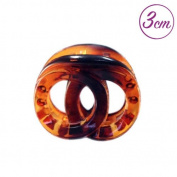Accessories Hair Clip for hair clips-Cross Ring 3 cm Brown