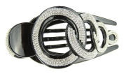 Black Extra Sparkly Large 13cm Diamante Crystal Concord Hair Clip Chain Link