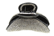 Extra Sparkly Black Diamante Crystal Evening Ladies Luxury Small 6cm Hair Claw Clamp Sunset