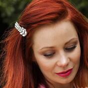 Leaf Hair Clip Vintage Hair Accessory Crystal Hairclip Rhinestone Barrette Wedding Hair Clip Bridesmaid Hair Grip Diamante Hair Clip Hair Jewellery