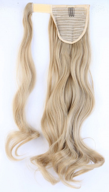 """S-noilite® New 24""""(60cm) Curly Ash Blonde Wrap Around Ponytail Clip in Hair Extensions"""