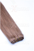 Weft Echthaartresse Straight 70 cm 100% Natural Remy Human Hair Extensions