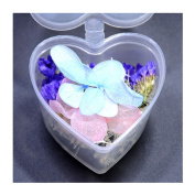 1 Box Mixed Dried Flowers Nail Art DIY Preserved Flower With Heart-Shaped Box Glass Bottle Decor #J