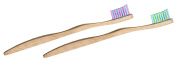 Woobamboo Kids Super Soft Eco-Friendly Biodegradable Bamboo Toothbrush - Pack of 2