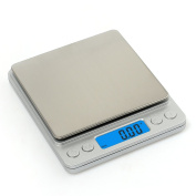 Pocket Digital Scale, ManKe High Weigh Precision 500g x 0.01g Electronic Cooking Food Scale With LCD Blue Backlight, Can Used for Weigh Powder, Fine Items, Jewellery, Kitchen, foods, Reloading Etc