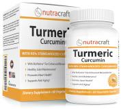 Turmeric Curcumin 1300mg Supplement with Bioperine - 100.  - Highest Potency 95% Standardised Curcuminoids - Premium Anti-Inflammatory & Joint Support - 60 Vegetable Capsules