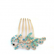 Vintage diamond ladies fashion hair comb