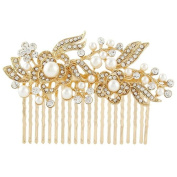 . luxury diamond flower bridal Hair Combs