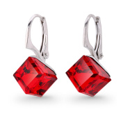 Spark Elements Women's Earring Pendants 925 Sterling Silver 925 8 MM Crystal Dice rot