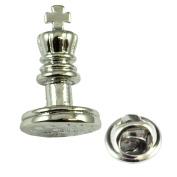 Chess Playing Piece King Lapel Pin Badge