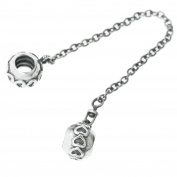 Sterling Silver Infinity Love Heart Screw-on Bead Safety Chain For European Charm Bracelets