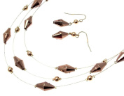 Multi Strand Necklace Necklaces For Women Beaded Necklaces Brown 1001