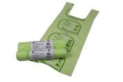 7L x 100 Tie Handle Compostable Kitchen Caddy Liners - Food Waste Bin Liners - EN 13432 - 7 litre Bags