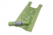 7L x 50 Tie Handle Compostable Kitchen Caddy Liners - Food Waste Bin Liners - EN 13432 - 7 litre Bags