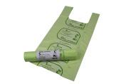 5L x 50 Tie Handle Compostable Kitchen Caddy Liners - Food Waste Bin Liners - EN 13432 - 5 litre Bags