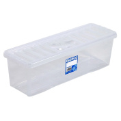 Wham CD Or DVD Clear Plastic Storage Box Unit Useful Home Storage Pack Solutions
