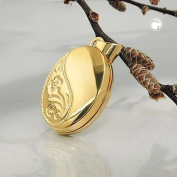 GALLAY Pendant Locket - Gold Plated, Silver 925