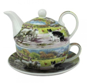 Leonardo Collie and Sheep China Tea-for-One Set Teapot Cup and Saucer Set LP92609