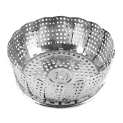 Stainless Steel Multifunctional with Ring-pull Steamer Rack Drip Tray Basket