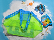 Jessie & Letty Large & Portable Family Size Beach Mesh Bag storage mesh pocket for sand toys beach fashion mesh bag storage bag luggage bag mesh bag