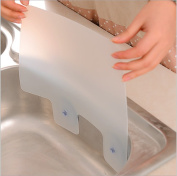 AsentechUK® 2Pcs Plastic Translucent Kitchen Sink Water Splash Proof Retaining Plate With Attached Sucker