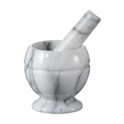 New White Marble Kitchen Accessories Tools Kitchen Mortar And Pestle