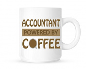 Accountant - Powered By Coffee - Fun Novelty Profession Themed Tea/Coffee Mug/Cup - Gift Idea
