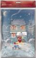 Advent Christmas Calendar with 24 Doors and White Mailing Envelope Snowy Woodland Cottage 22cm x 32cm Medici AC0026