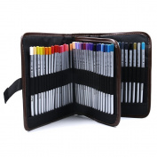 JOJOO Canvas Pencil Wrap - 72 Slot Pencil Holder Roll Up Case Multi-purpose Pouch for Coloured Pencils/ Gel Pens - Travel Organise Pouch for Artist & Students, MK032