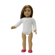 ZITA ELEMENT® Doll Clothes -Various Long sleeve Swimsuit fits for American's Girl Doll, My Life Doll, Our Generation and other 46cm Dolls, White, Blue, Pink, Rose Red colour available.