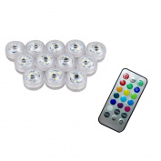IPUIS 12 Pcs Submersible LED Tea Lights With Remote For Wedding, Party, Birthday, Swimming Pool