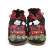 Soft Leather Baby Shoes Train 6-12 Months
