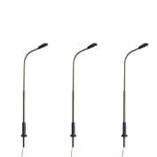 10pcs LED Stainless Steel Lamppost Model Street Light Model Railway Train Lamp Post HO OO Scale 1:150 Lamp 3V DC